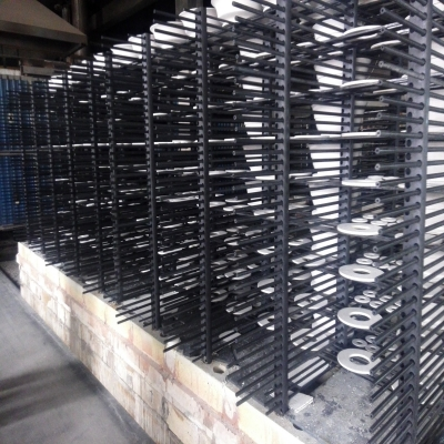 Reaction bonded silicon carbide frame beam